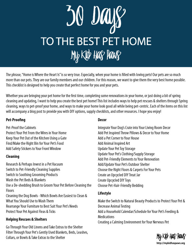 30 Days to the Best Pet Home
